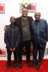 Lou Gossett Jr Satie Gossett and Roland Kilumbu at Screening of Forgiveness on the Red Carpet